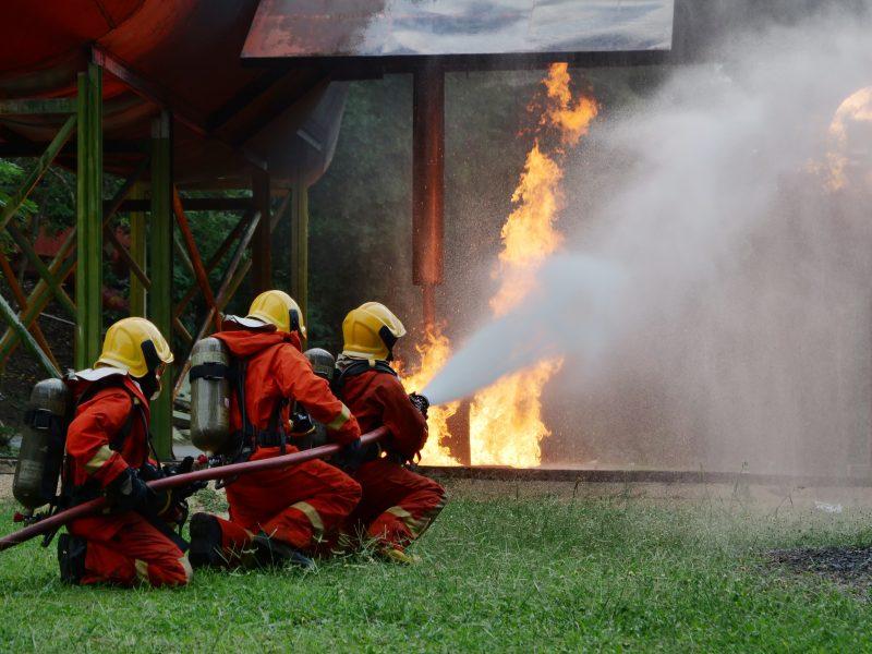Treinamento de brigadas de incêndio